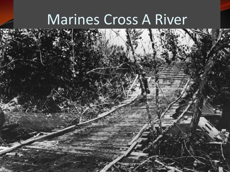 Marines Cross A River