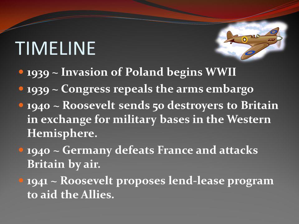 TIMELINE 1939 ~ Invasion of Poland begins WWII