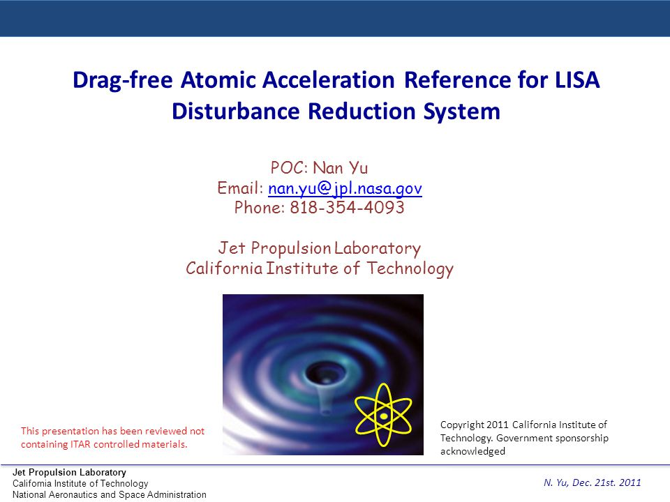 Drag-free Atomic Acceleration Reference for LISA Disturbance Reduction System