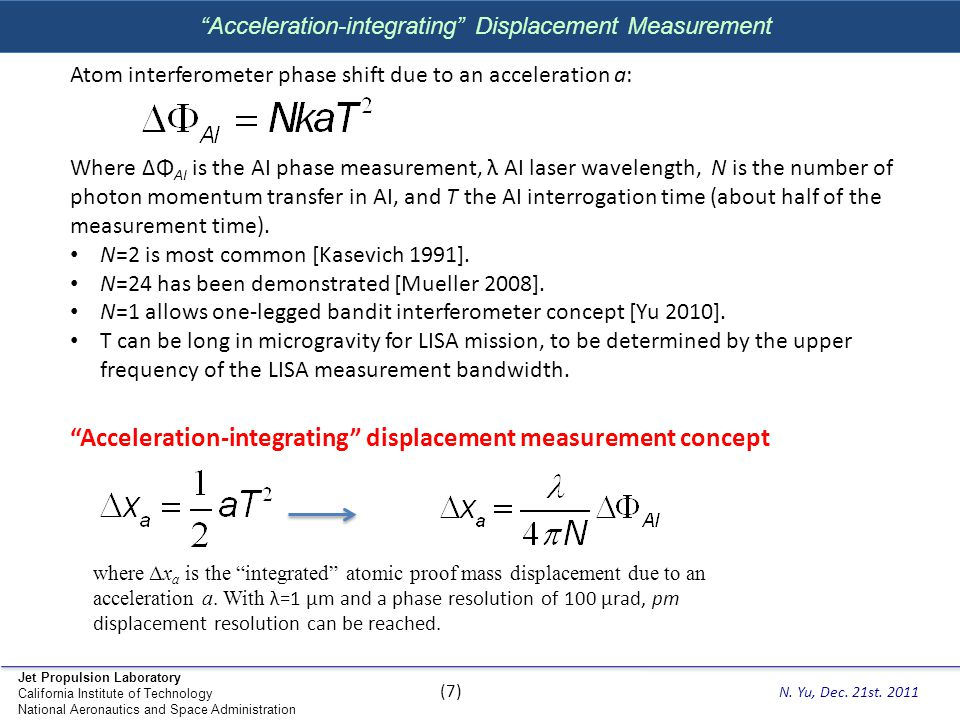 Acceleration-integrating Displacement Measurement