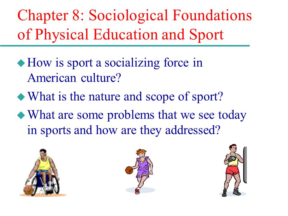 sociological issues sport This chapter will broaden this discussion through an exploration of the sociological literature that concentrates on the role of gender in sport and, where possible, on the role of referees and issues of direct concern in this thesis.