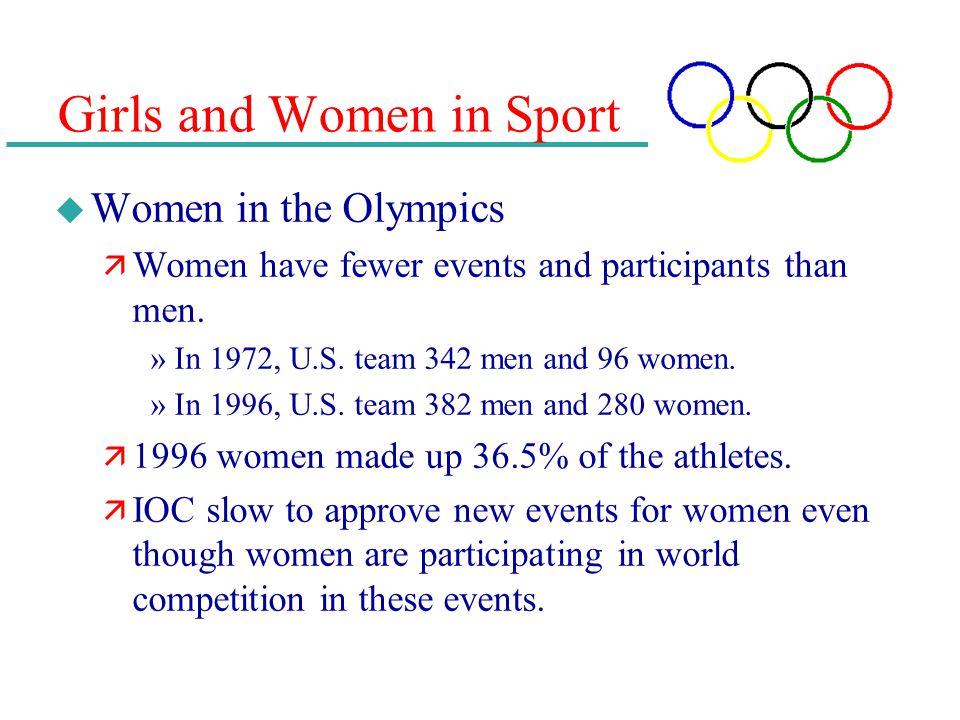 Girls and Women in Sport
