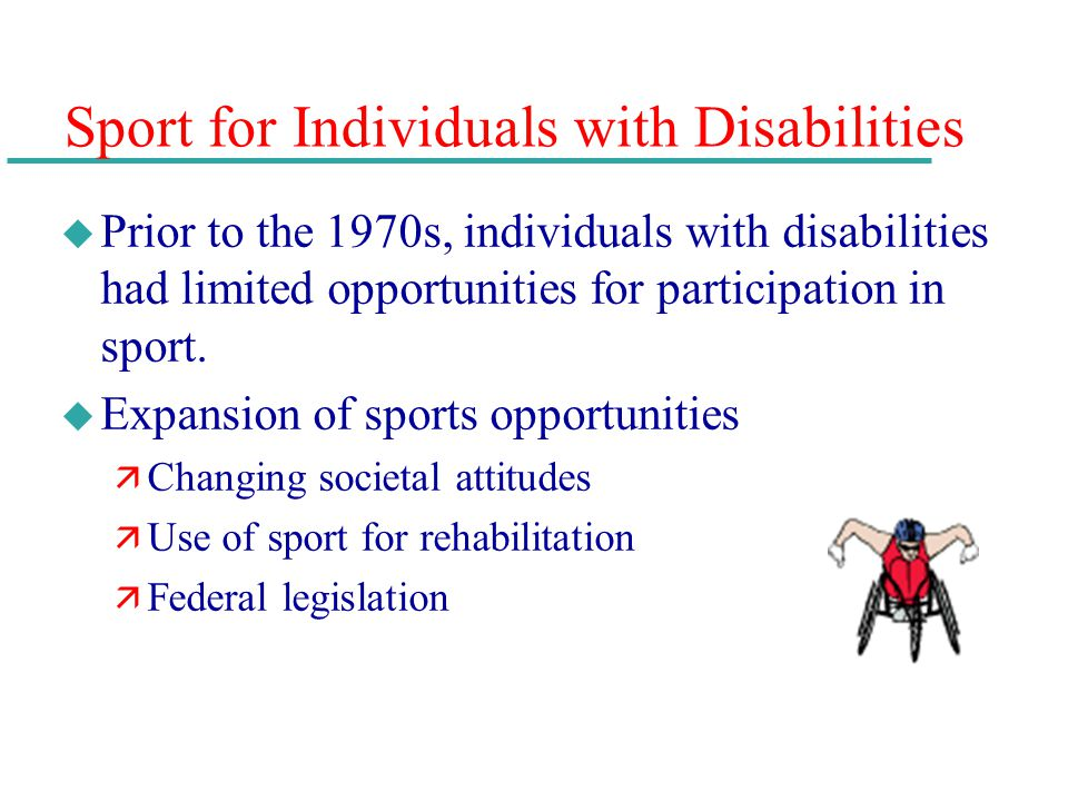 Sport for Individuals with Disabilities