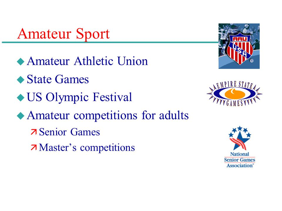 Amateur Sport Amateur Athletic Union State Games US Olympic Festival