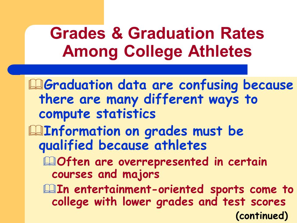 Grades & Graduation Rates Among College Athletes