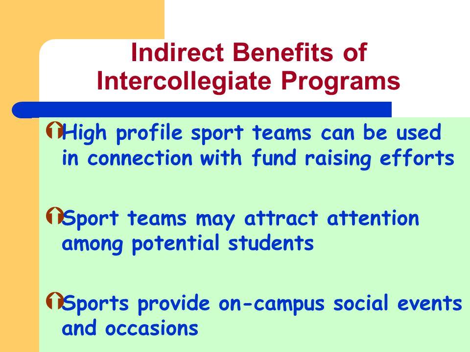 Indirect Benefits of Intercollegiate Programs