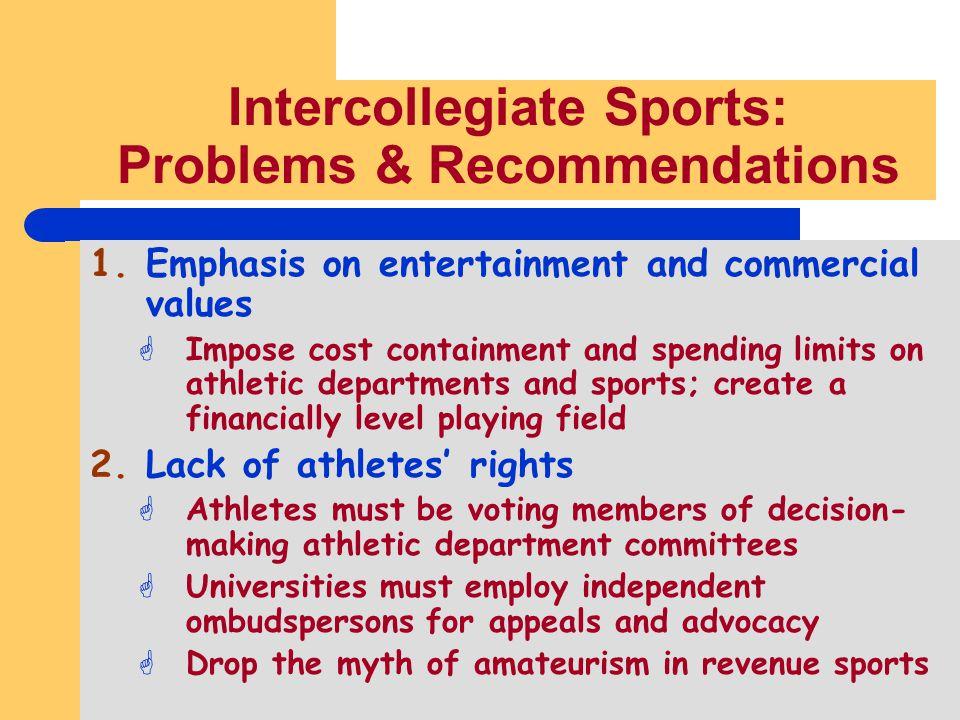 Intercollegiate Sports: Problems & Recommendations