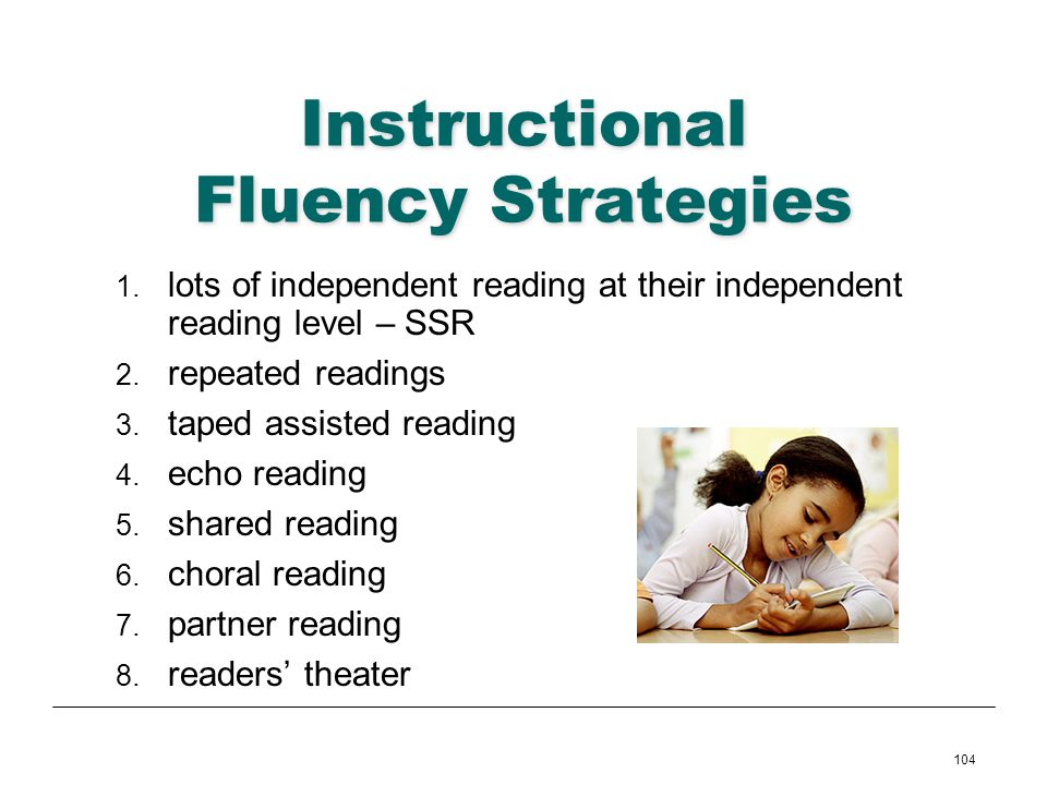 Instructional Fluency Strategies