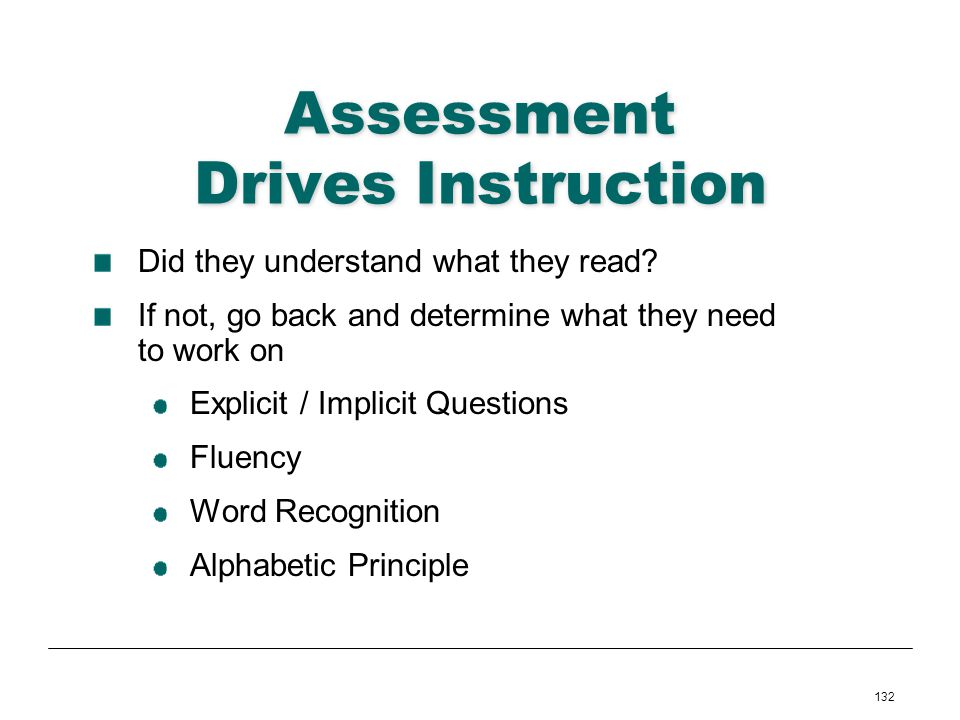 Assessment Drives Instruction