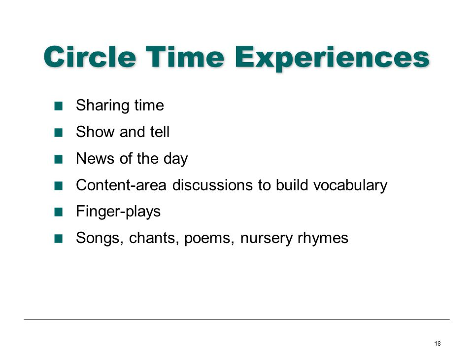Circle Time Experiences