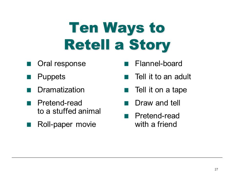 Ten Ways to Retell a Story