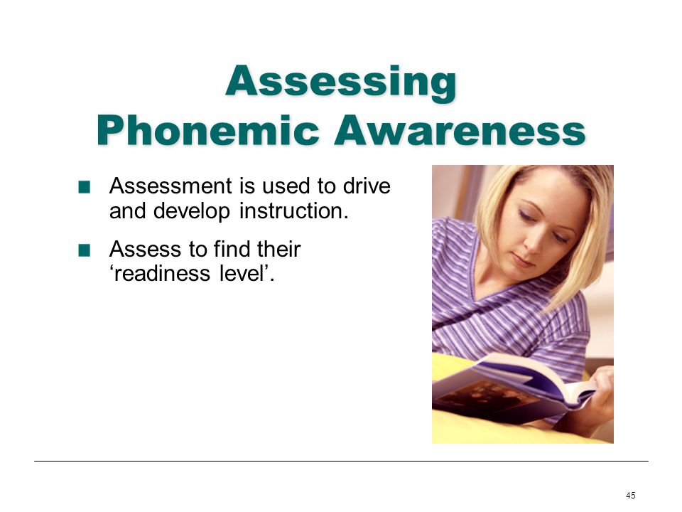 Assessing Phonemic Awareness