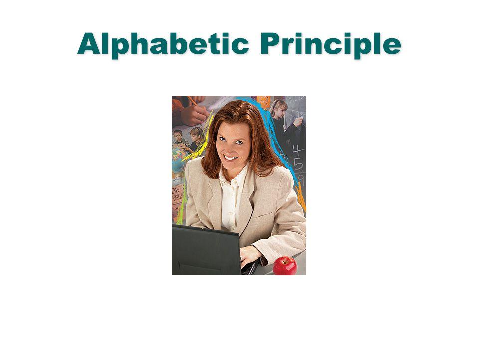 Alphabetic Principle English Language Arts & Reading