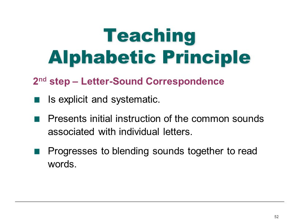 Teaching Alphabetic Principle