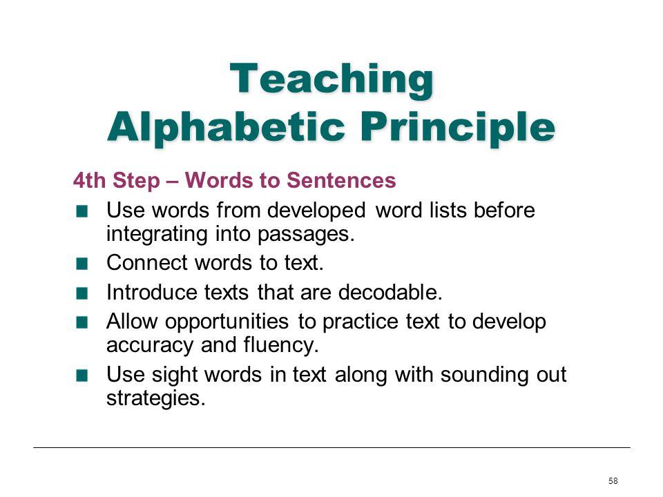 Teaching Alphabetic Principle
