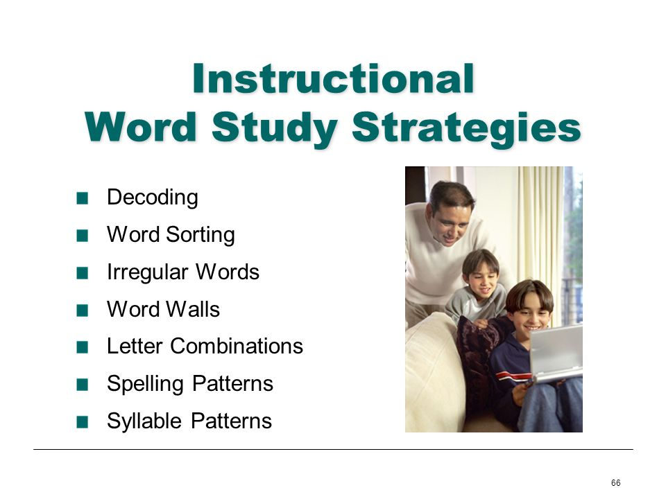 Instructional Word Study Strategies
