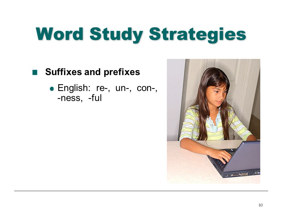 Word Study Strategies Suffixes and prefixes