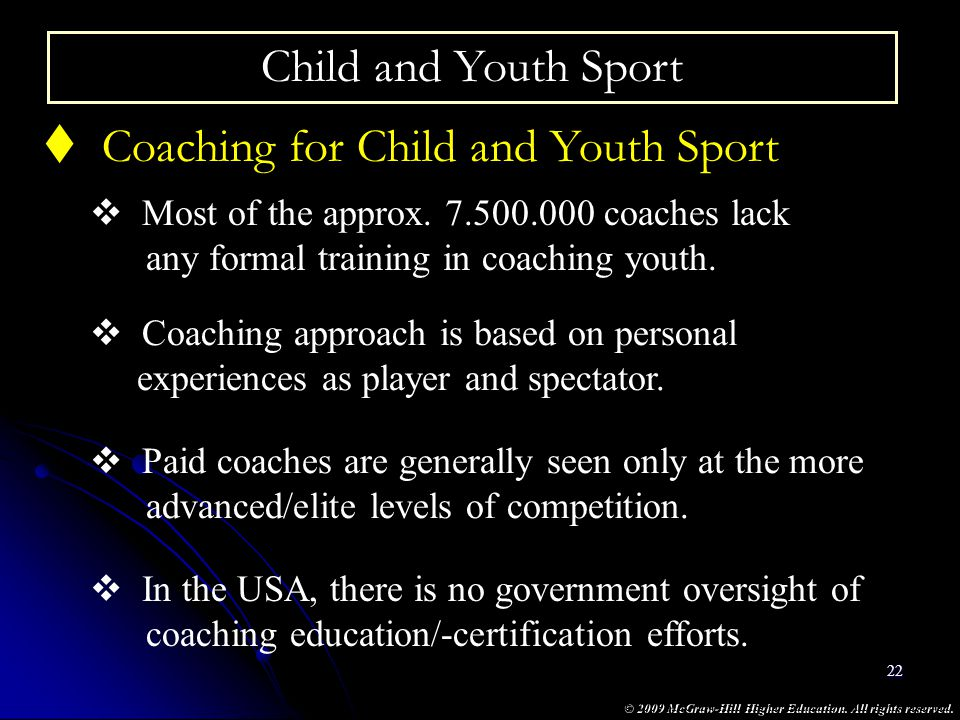 Coaching for Child and Youth Sport