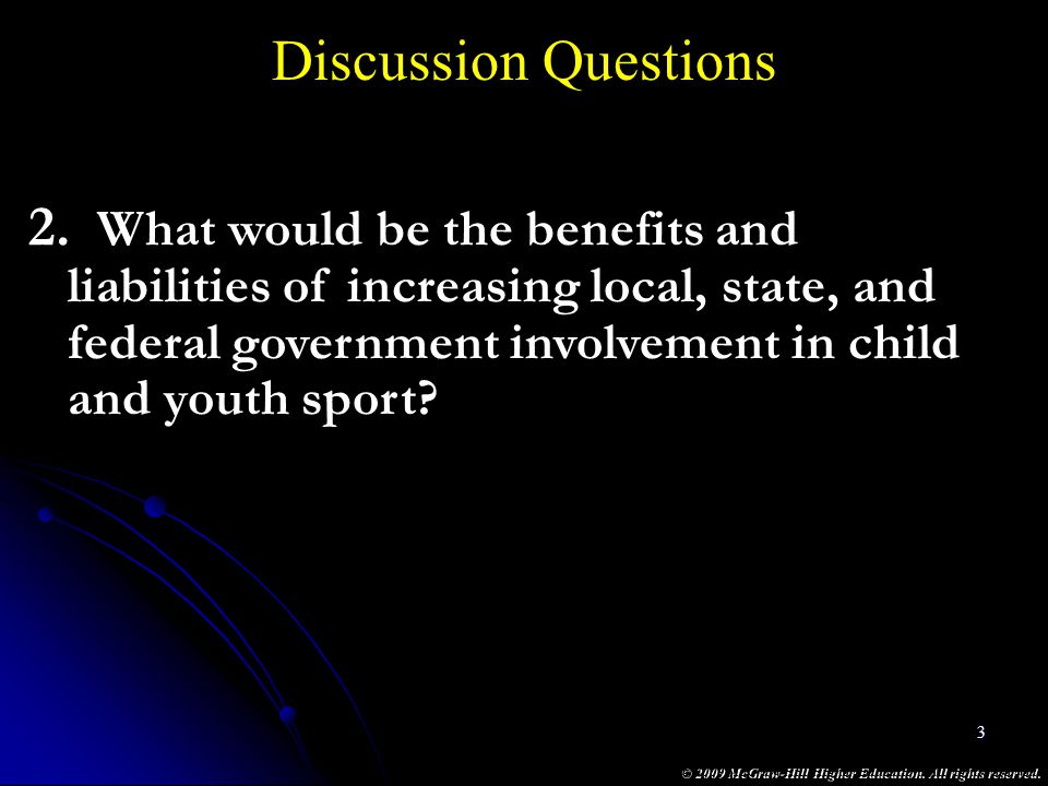 Discussion Questions What would be the benefits and
