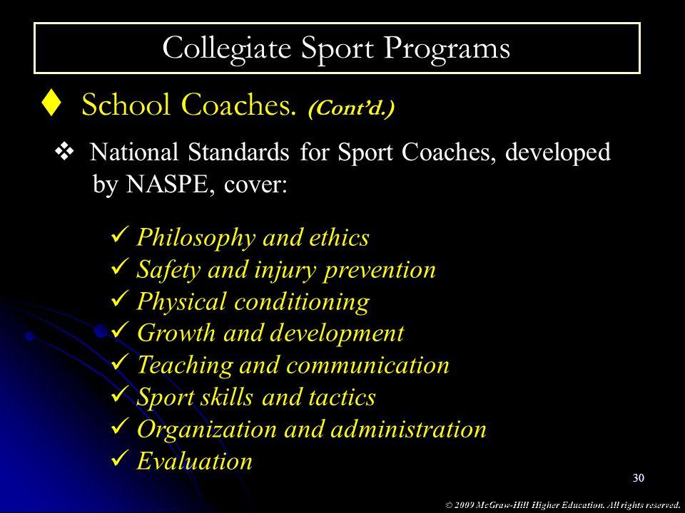 Collegiate Sport Programs