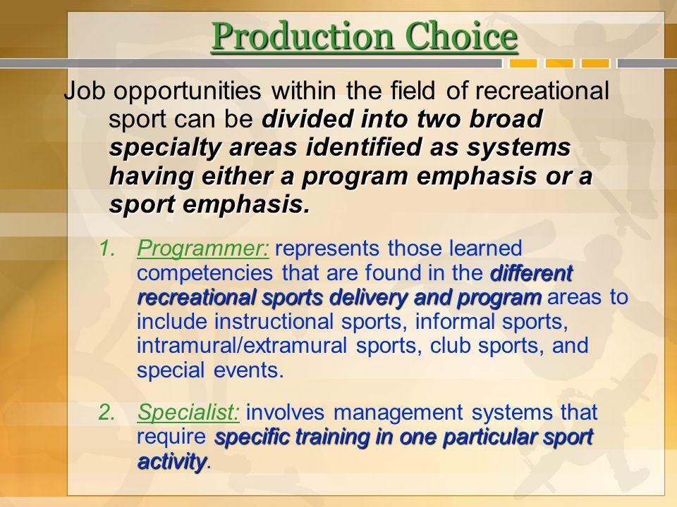 Production Choice