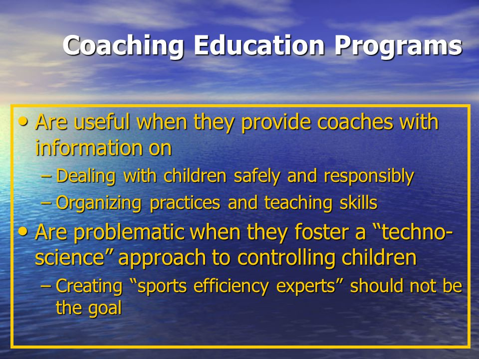 Coaching Education Programs