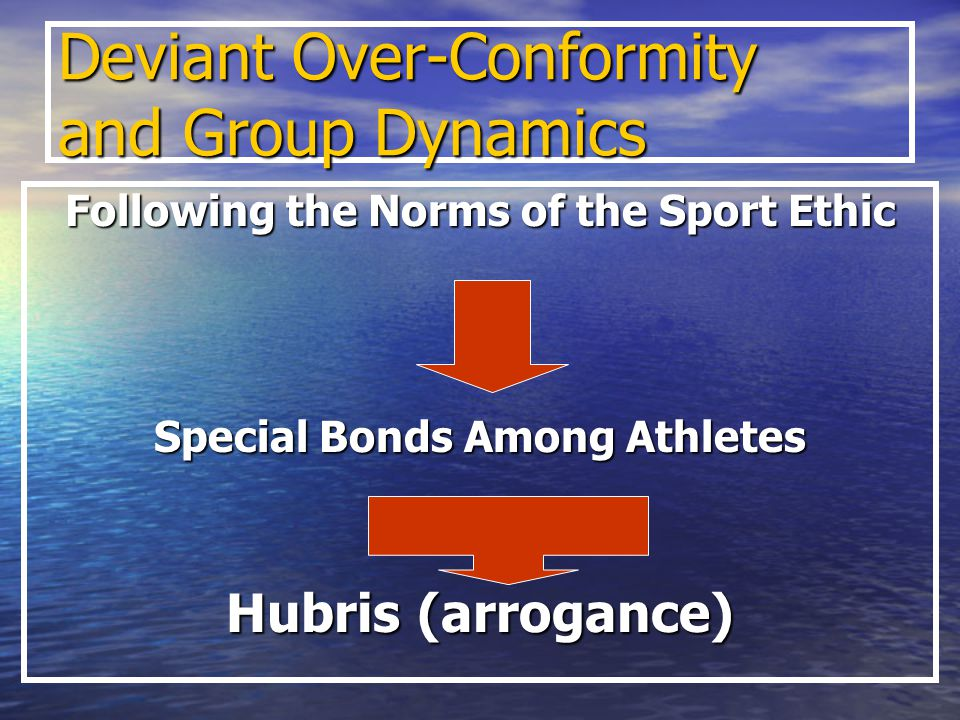 Deviant Over-Conformity and Group Dynamics