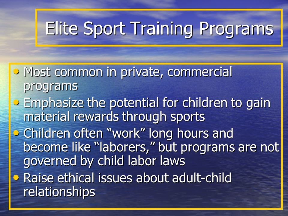 Elite Sport Training Programs
