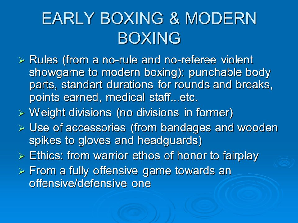 EARLY BOXING & MODERN BOXING