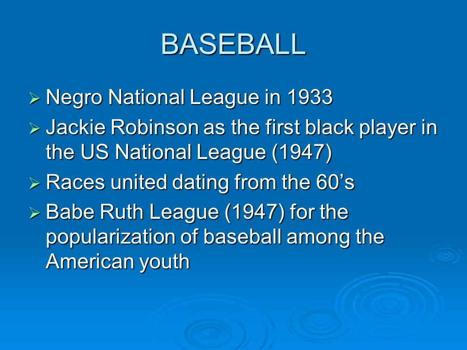 BASEBALL Negro National League in 1933