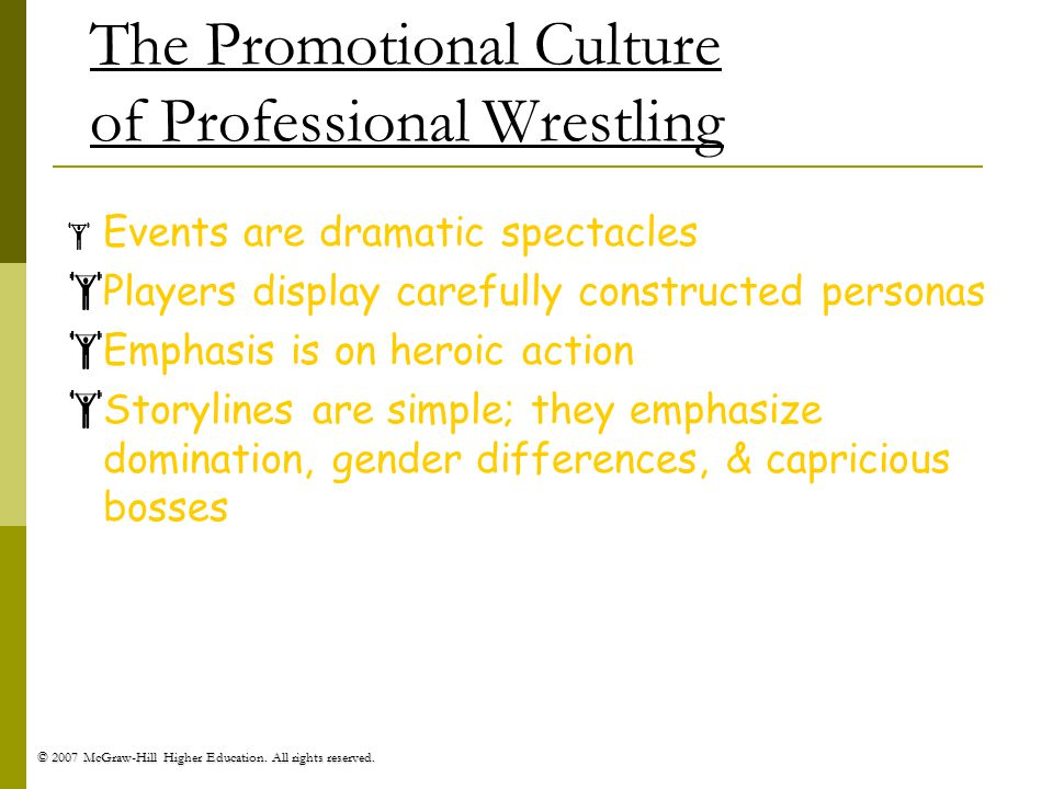 The Promotional Culture of Professional Wrestling