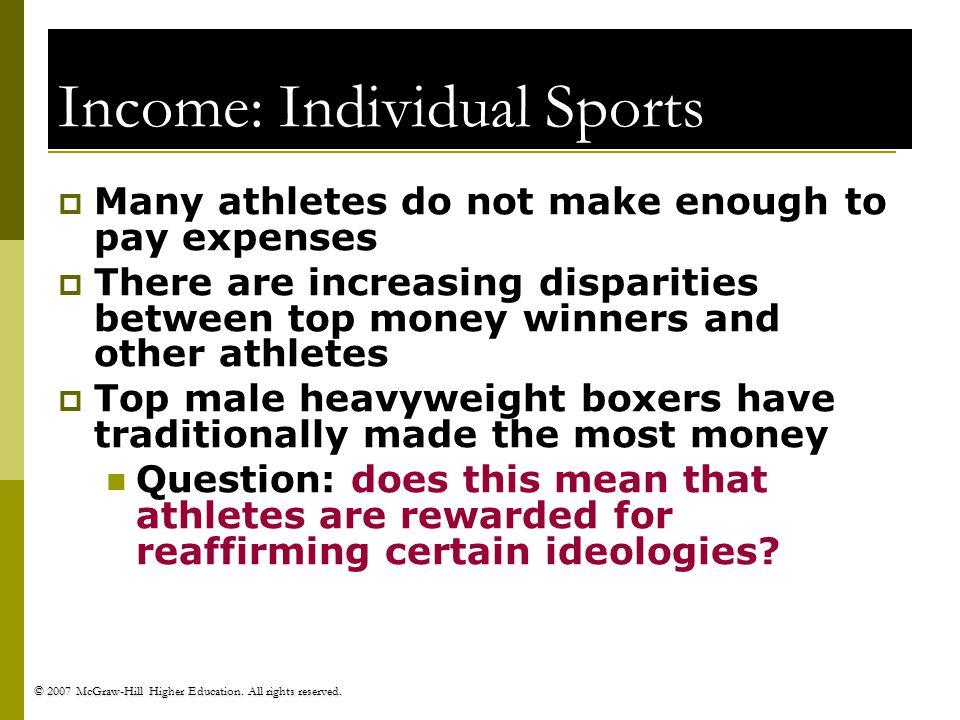 Income: Individual Sports