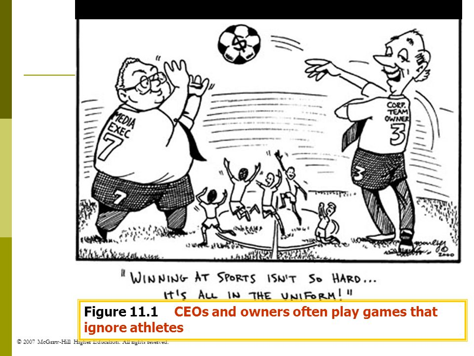 Figure 11.1 CEOs and owners often play games that ignore athletes