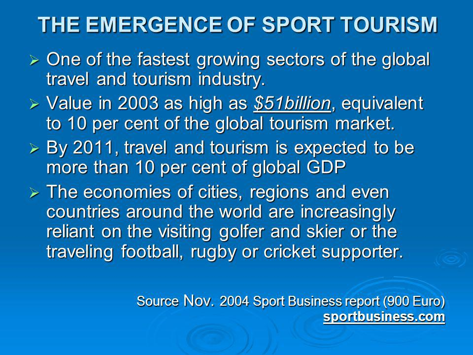 THE EMERGENCE OF SPORT TOURISM