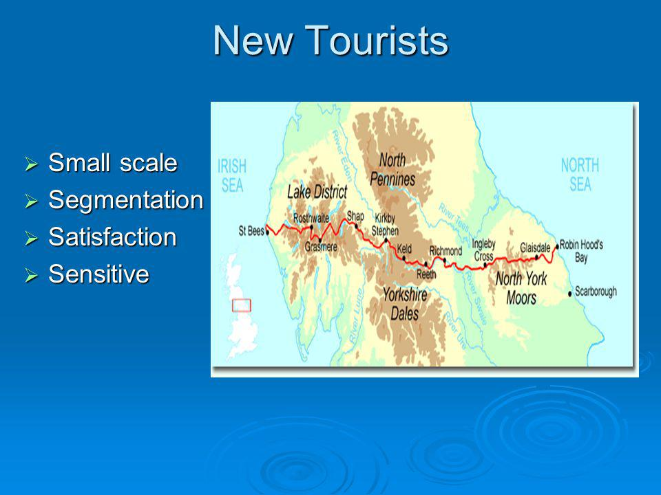 New Tourists Small scale Segmentation Satisfaction Sensitive