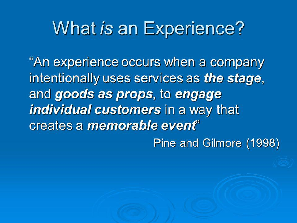 What is an Experience