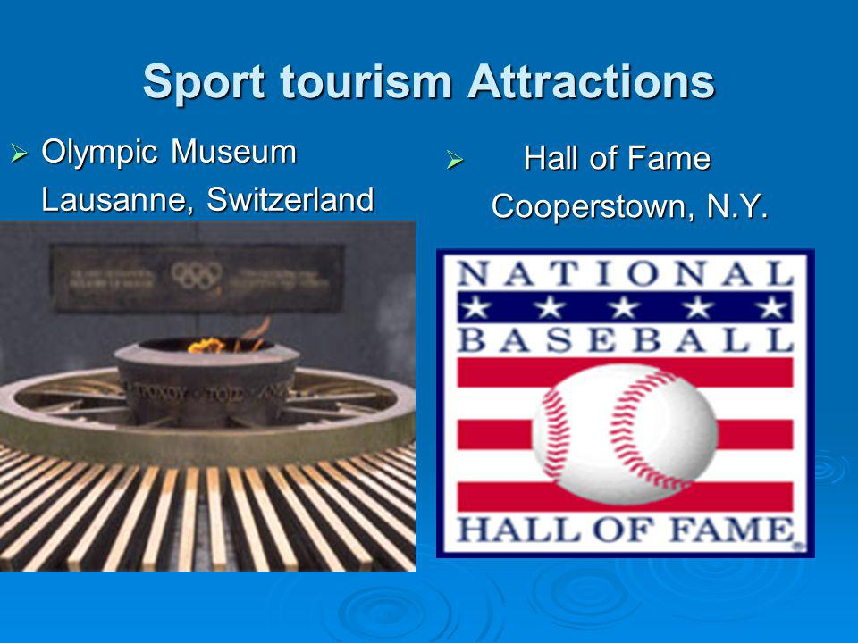 Sport tourism Attractions