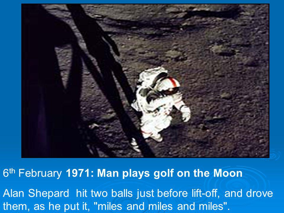 6th February 1971: Man plays golf on the Moon