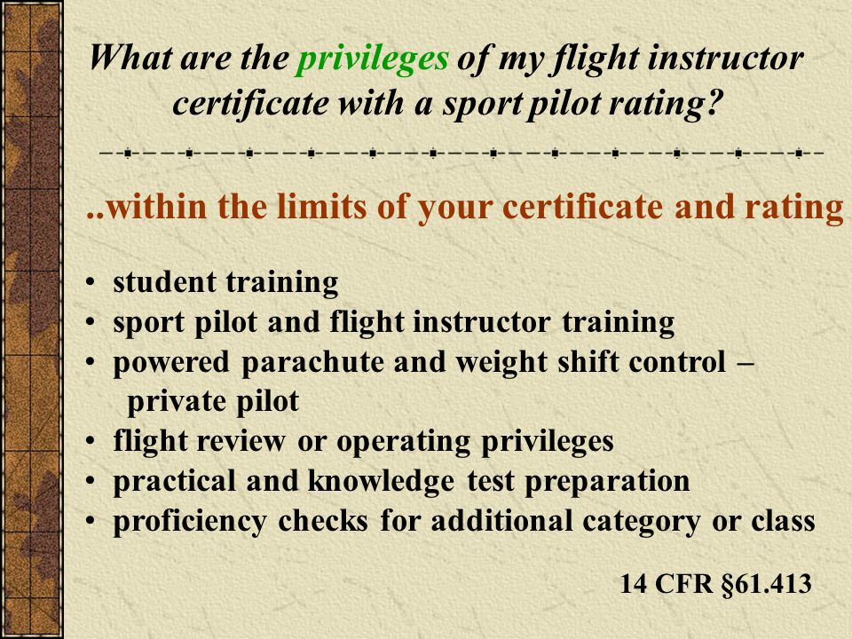 What are the privileges of my flight instructor