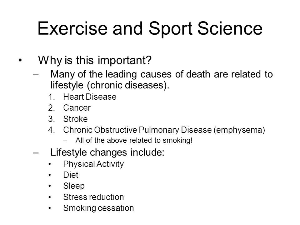 Exercise and Sport Science