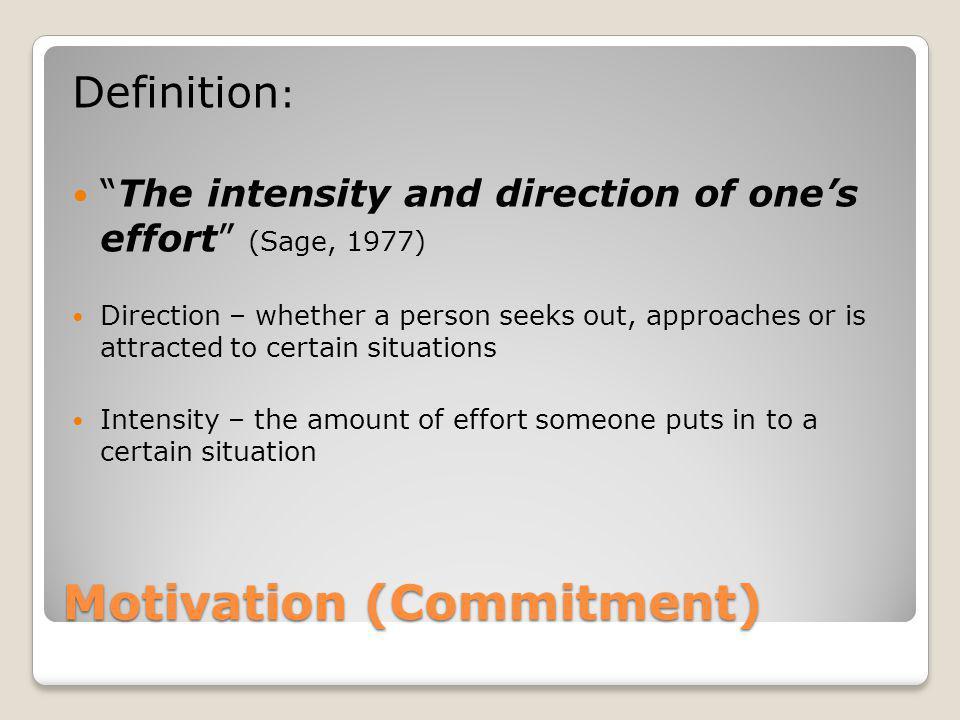 Motivation (Commitment)