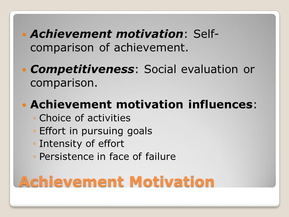 achievement motivation theory Articles motivation  achievement goal theory achievement goals are competence-based aims that individuals target in evaluative settings, ie in sport.