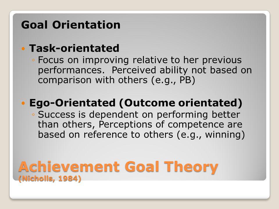 Achievement Goal Theory (Nicholls, 1984)