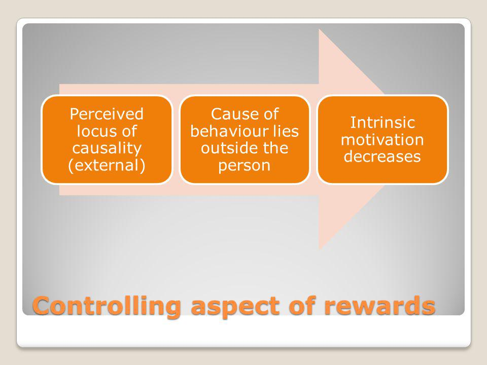Controlling aspect of rewards