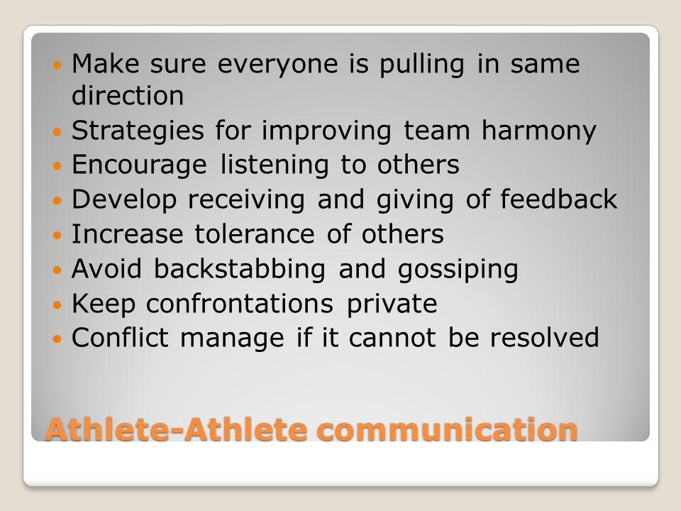 coach player athlete relationship Norwegian football academy players - player's self-assessed skills, stress and coach-athlete relationship.