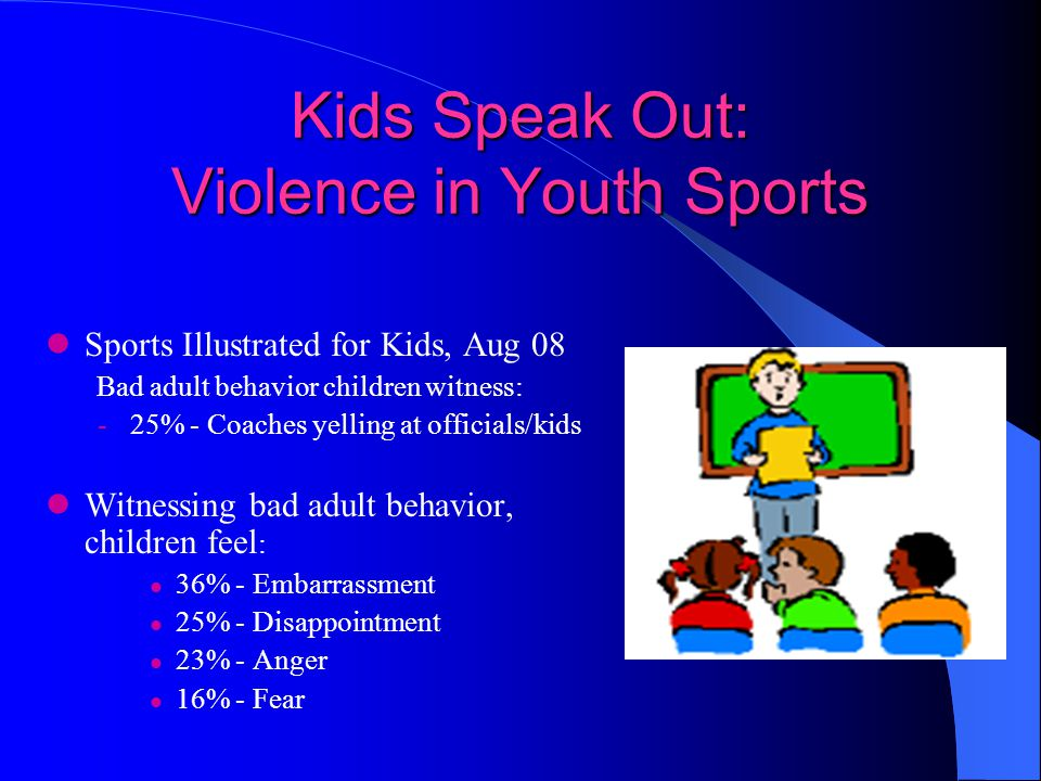Kids Speak Out: Violence in Youth Sports