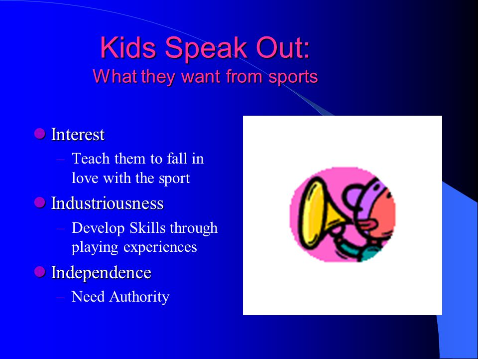 Kids Speak Out: What they want from sports