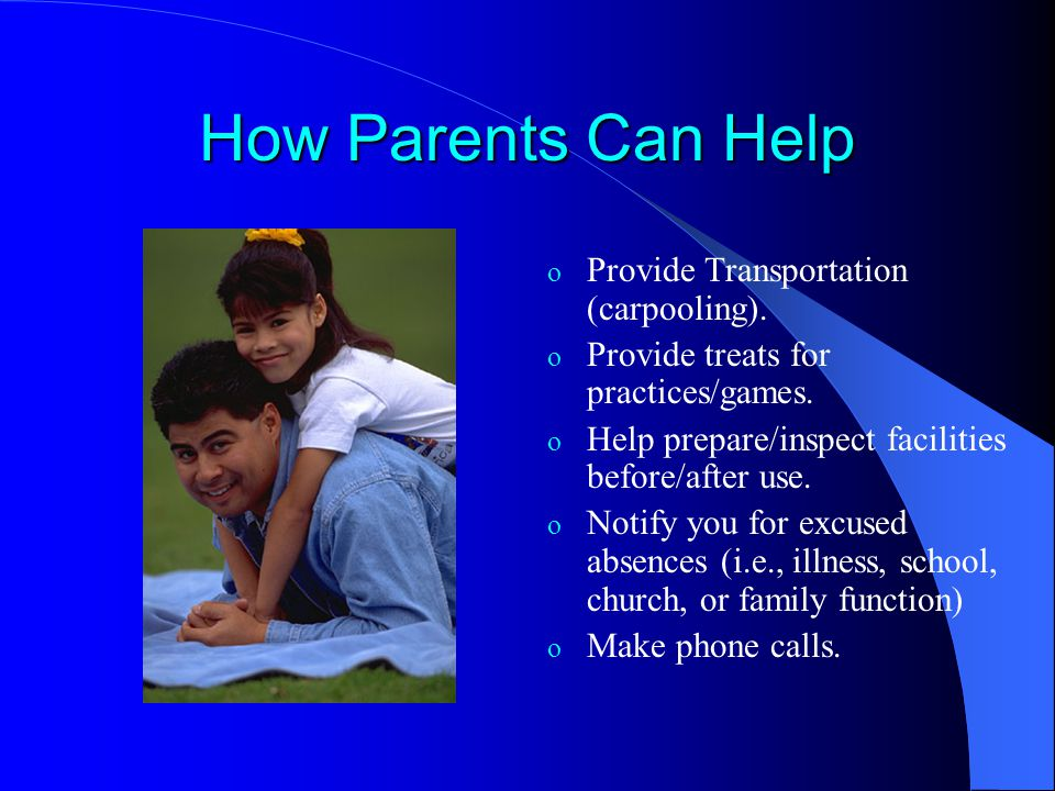 How Parents Can Help Provide Transportation (carpooling).