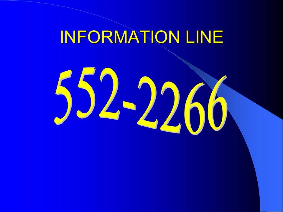 INFORMATION LINE 552-2266
