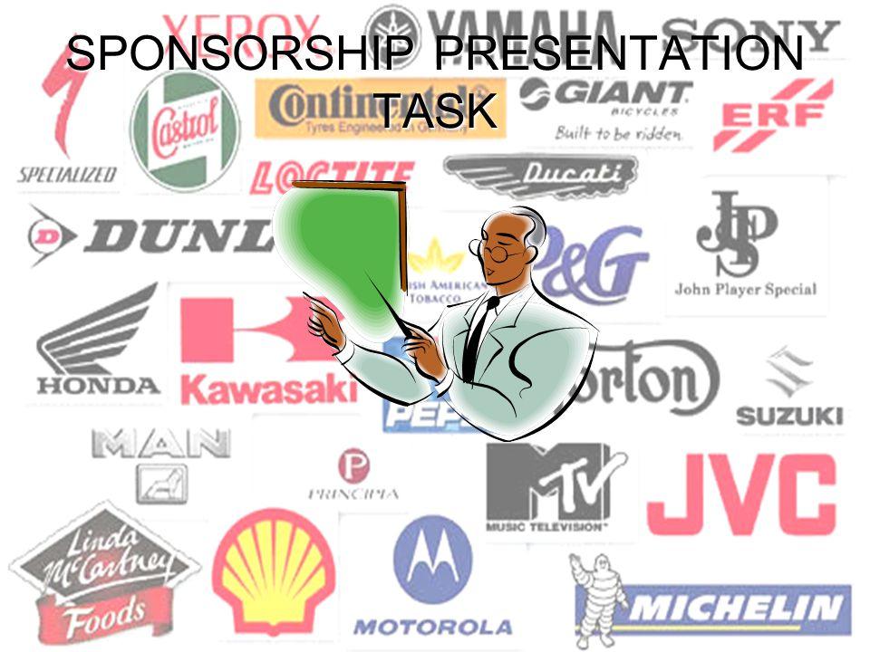 SPONSORSHIP PRESENTATION TASK